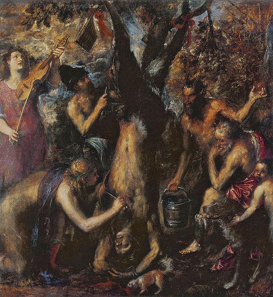 Punishment of Marsyas - Tiziano