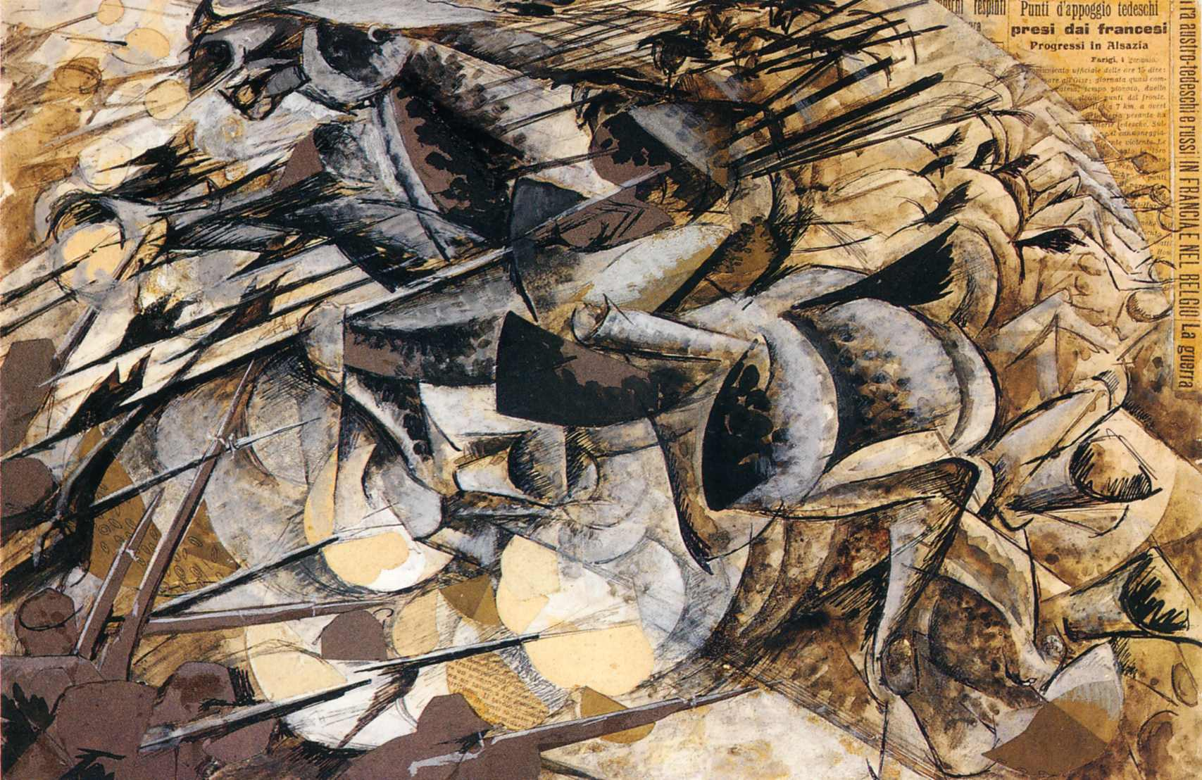 The Charge of the Lancers - Umberto Boccioni