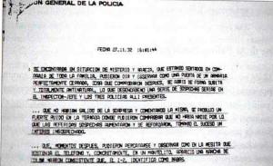 Il rapporto della polizia