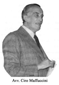 L'avvocato Ciro Maffuccini