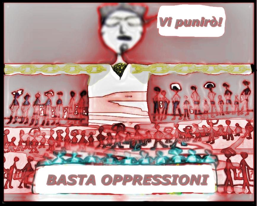 """""""Manifestanti portatori di punti interrogativi"""" di Andrea Colosimo"""