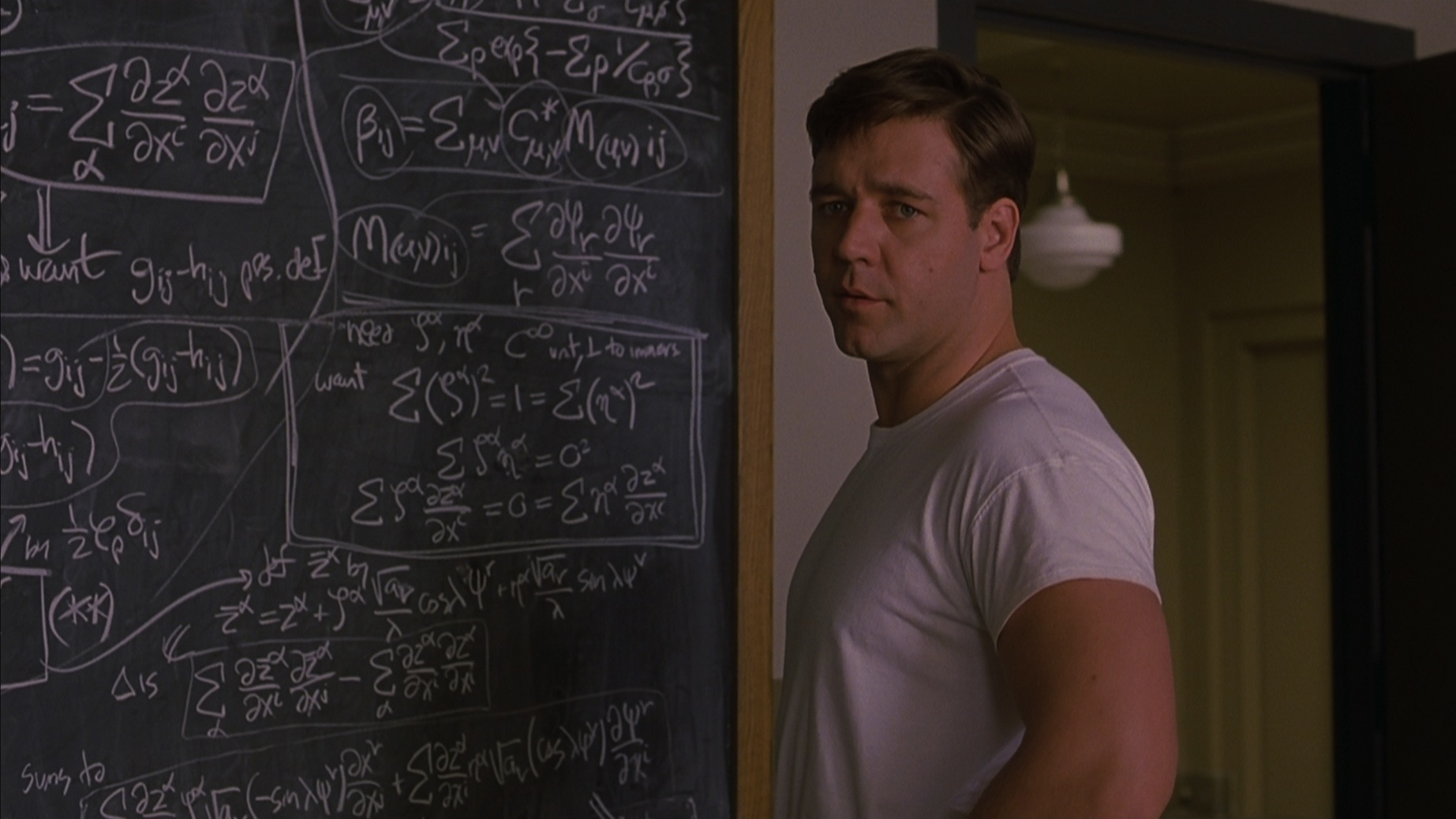 a beautiful mind with john nash Societal and cultural attitudes a beautiful mind depicts the story of john nash, a  brilliant mathematician who suffers from schizophrenia john nash, played by.