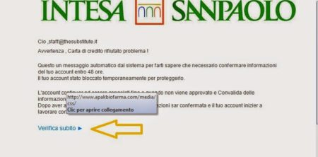 Banca Intesa Sanpaolo Avviso Sicurezza Frodi Online